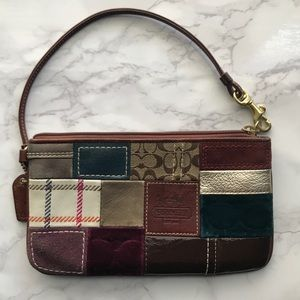 Holiday Coach Patchwork Wristlet